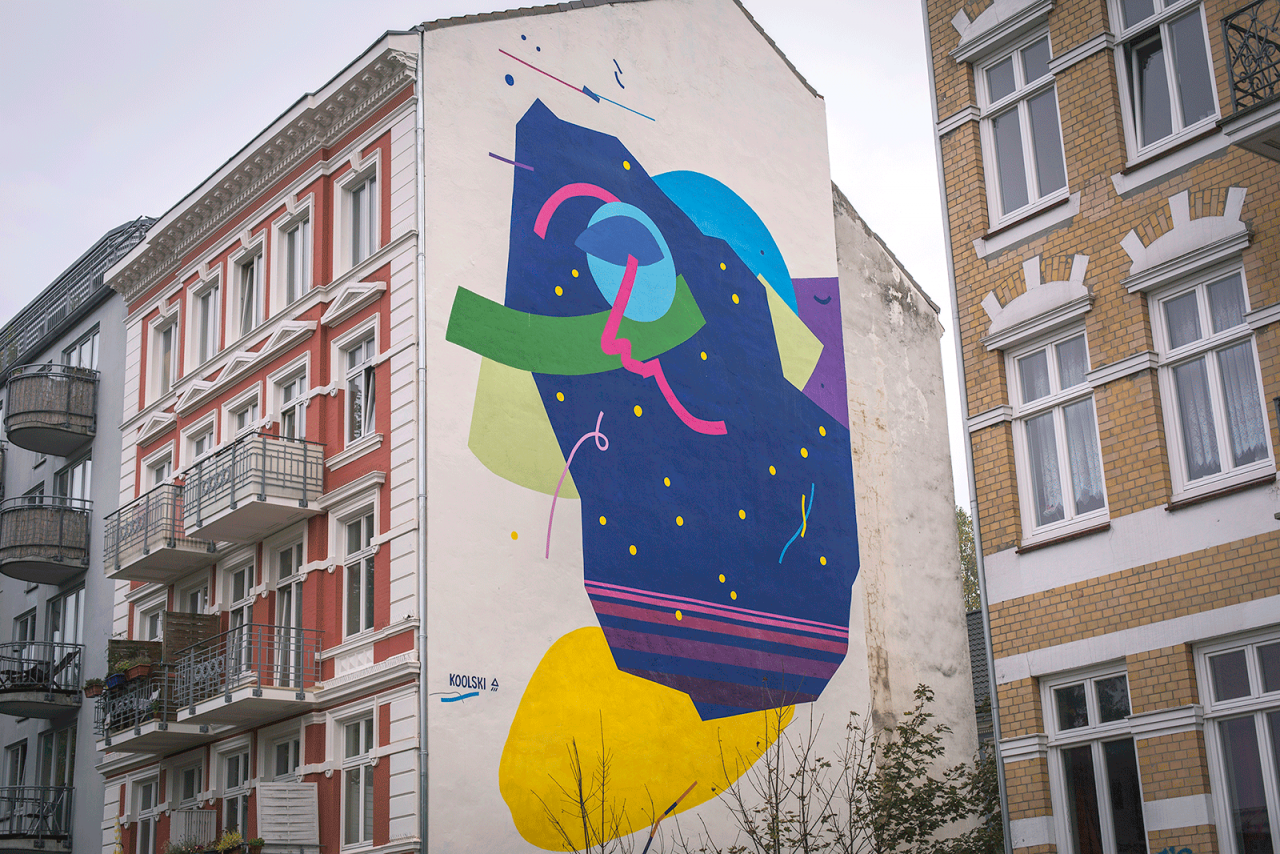 my reality rules Laokoonic dreams, Mural Hamburg, 2015